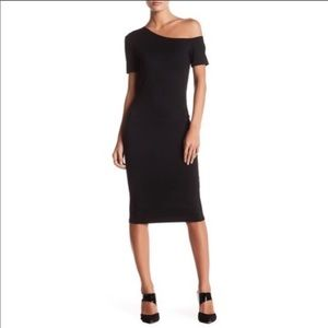 Love ady asymmetrical shoulder ponte dress XS